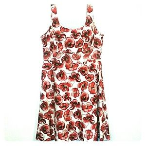 AGB Tank Dress Poppies Size 16